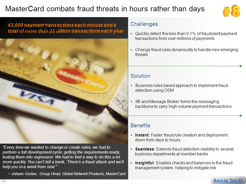 MasterCard combats fraud threats in hours rather than days MasterCard