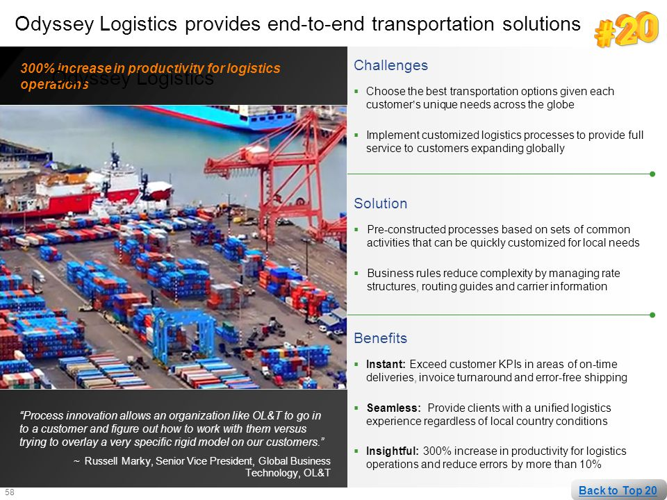 Odyssey Logistics provides end-to-end transportation solutions