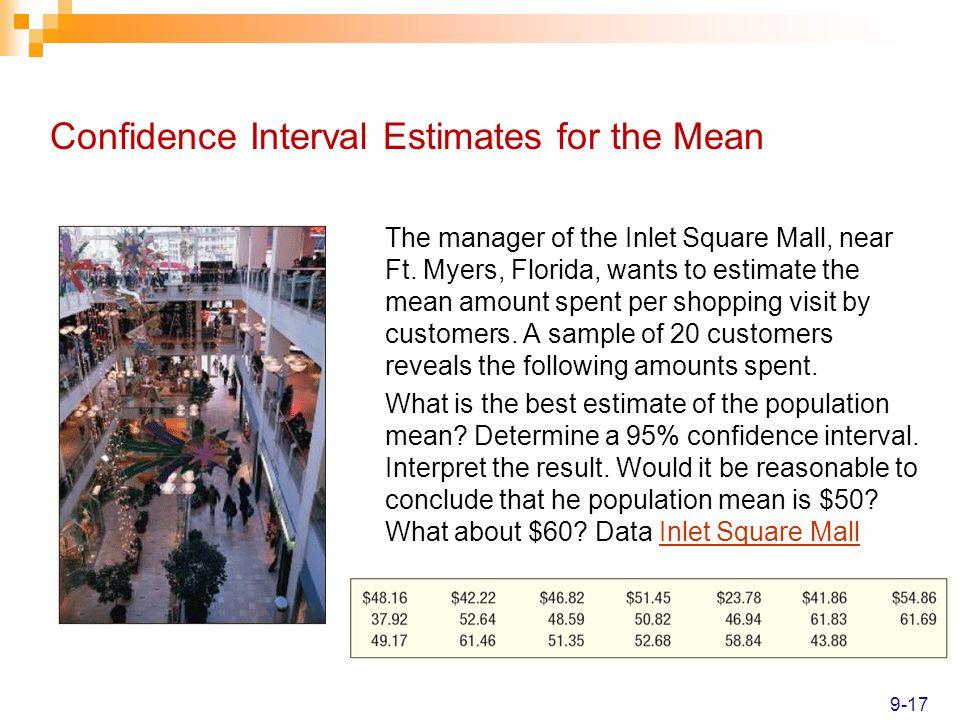 Confidence Interval Estimates for the Mean