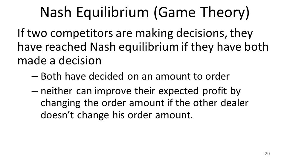 Nash Equilibrium (Game Theory)