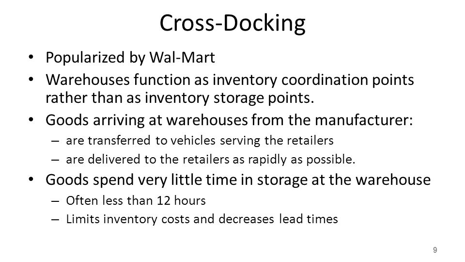 Cross-Docking Popularized by Wal-Mart