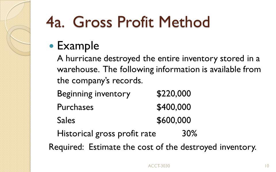 4a. Gross Profit Method