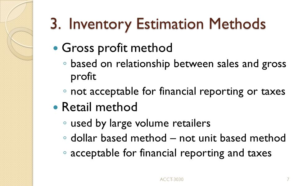 3. Inventory Estimation Methods