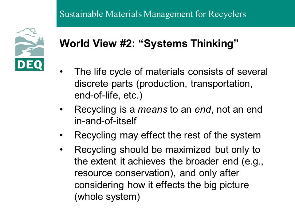 World View #2: Systems Thinking