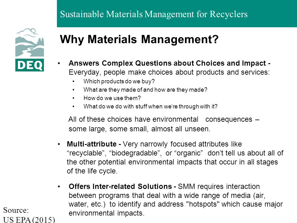 Why Materials Management