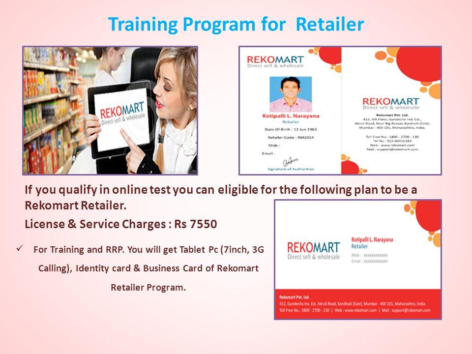 Training Program for Retailer
