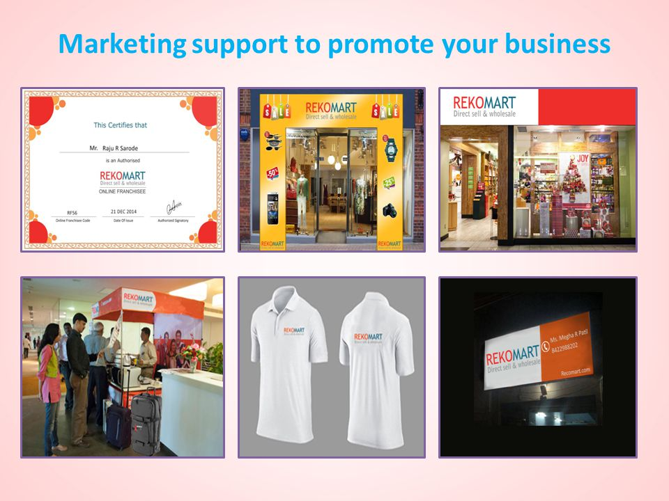 Marketing support to promote your business