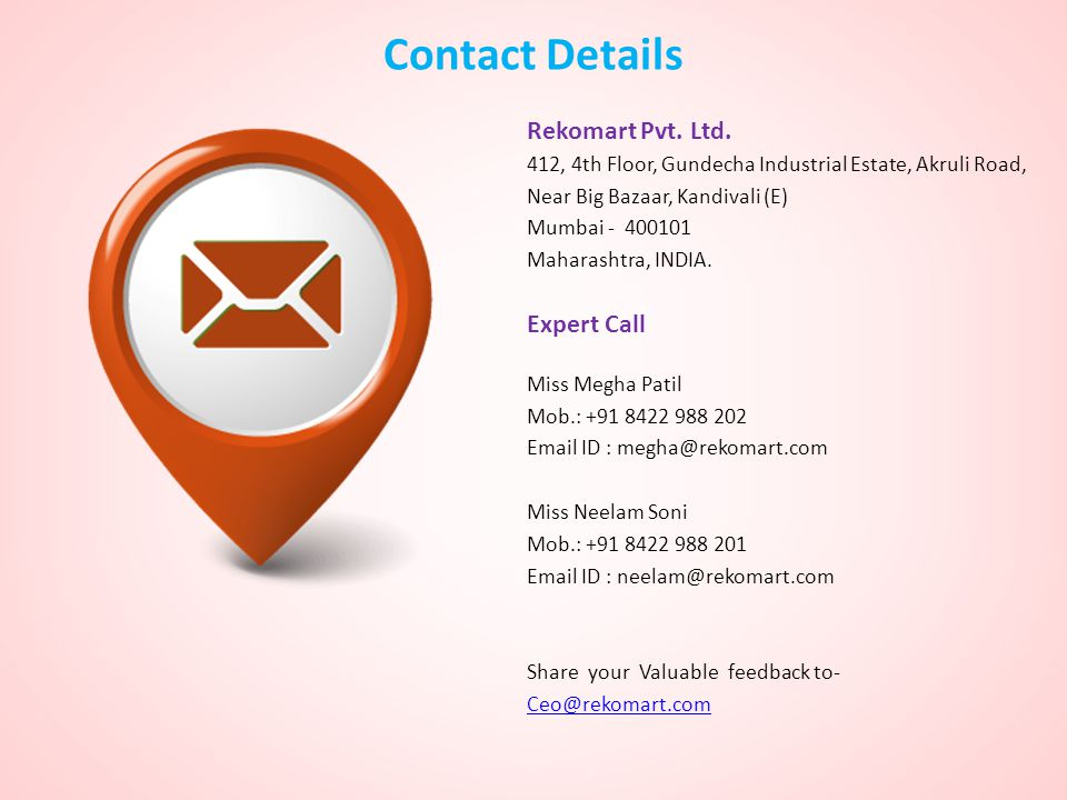 Contact Details Rekomart Pvt. Ltd. Expert Call
