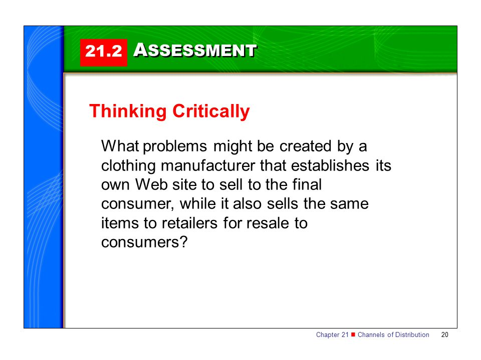 ASSESSMENT Thinking Critically 21.2
