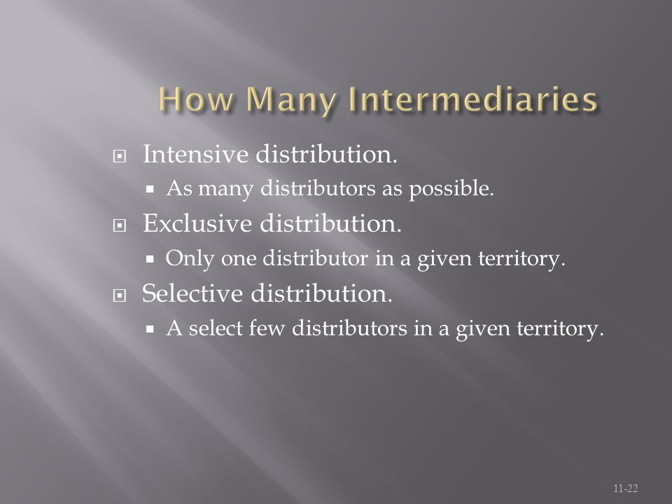 How Many Intermediaries