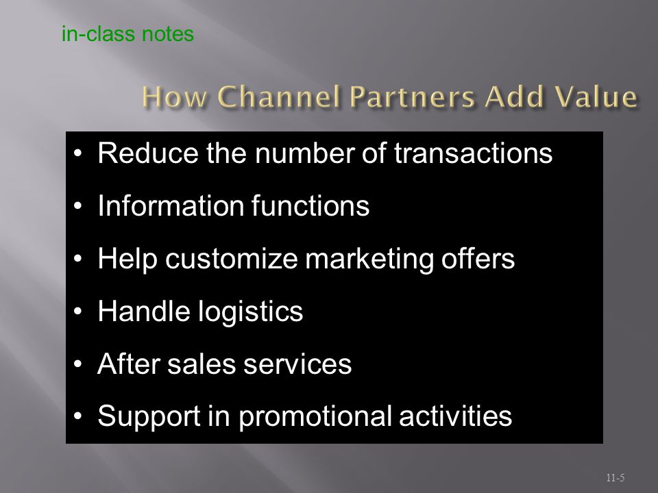 How Channel Partners Add Value