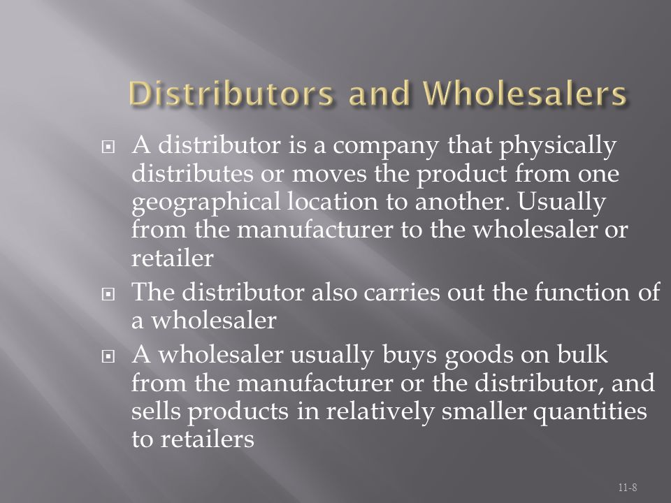 Distributors and Wholesalers