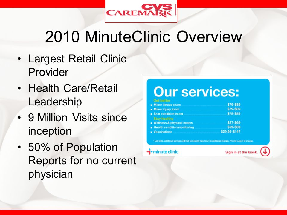 2010 MinuteClinic Overview