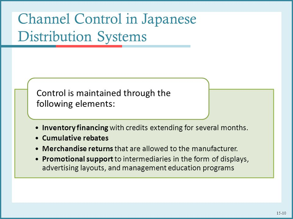 Channel Control in Japanese Distribution Systems