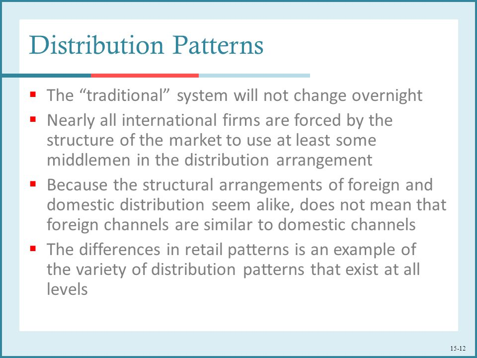 Distribution Patterns