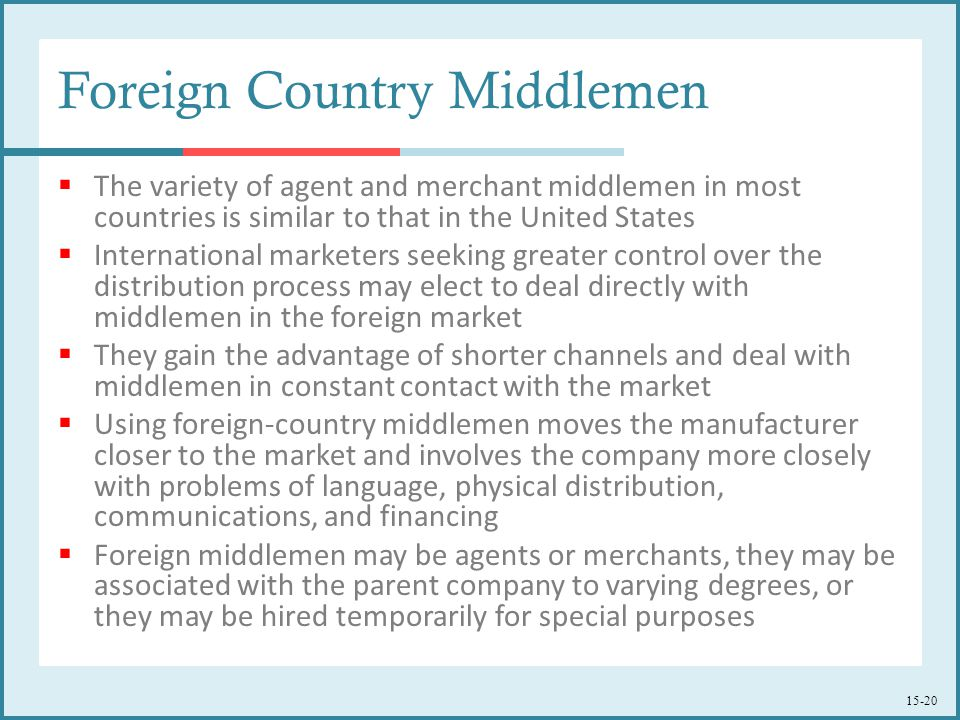 Foreign Country Middlemen