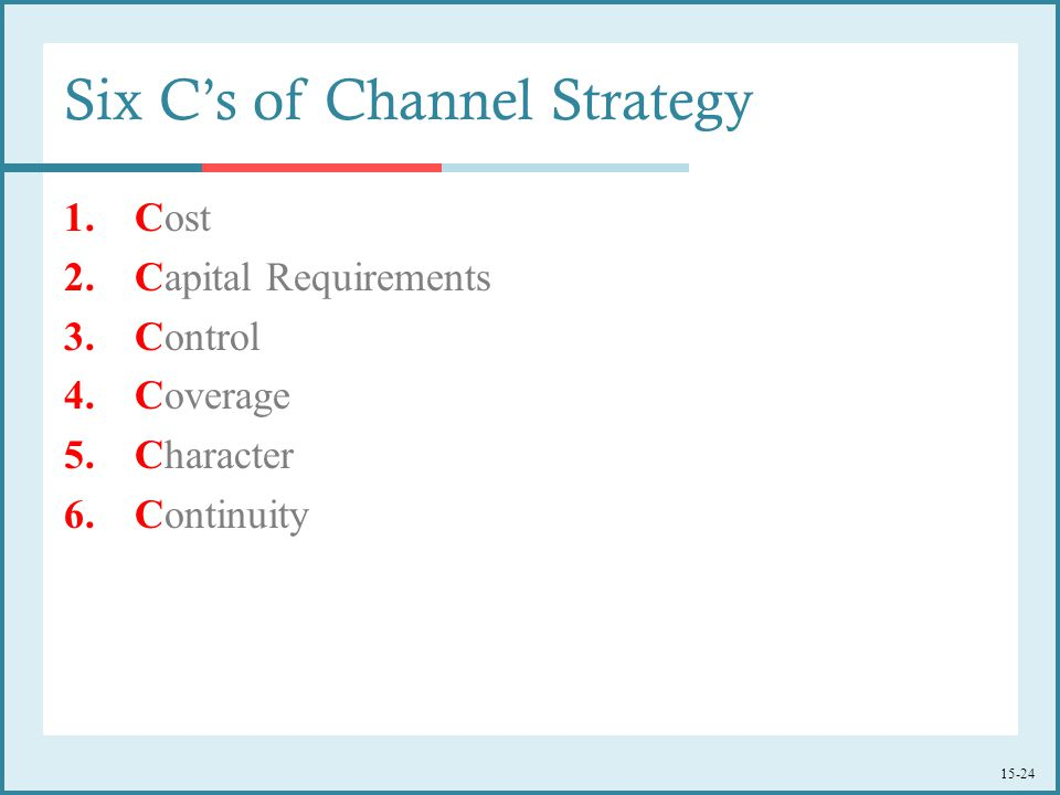 Six C's of Channel Strategy