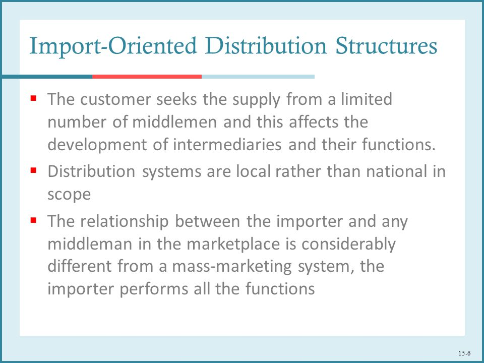 Import-Oriented Distribution Structures