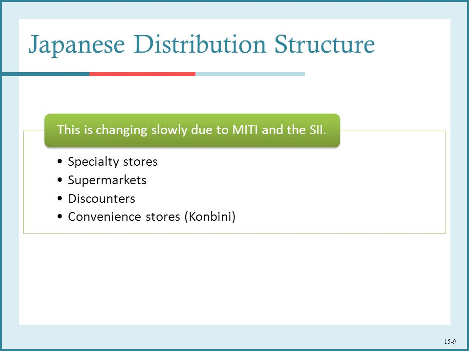 Japanese Distribution Structure