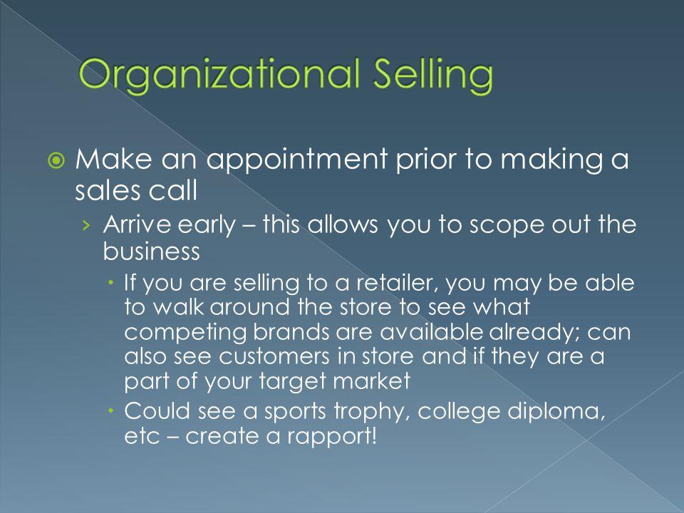 Organizational Selling