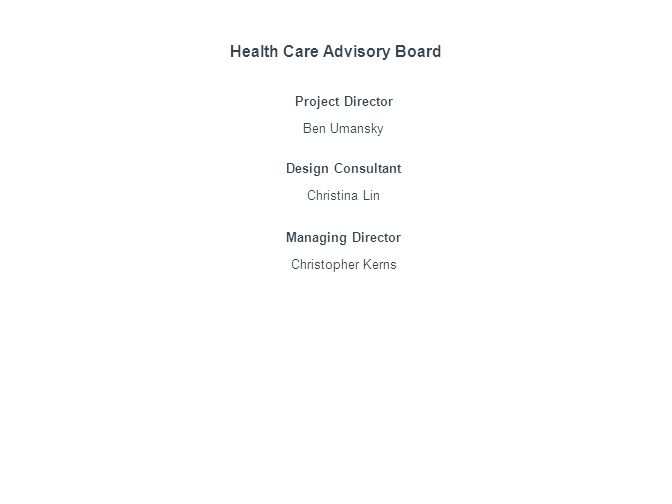 Health Care Advisory Board