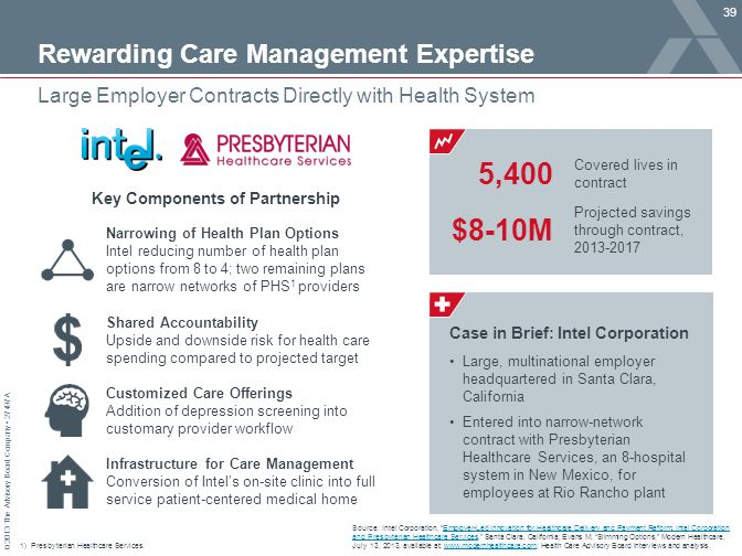 Rewarding Care Management Expertise