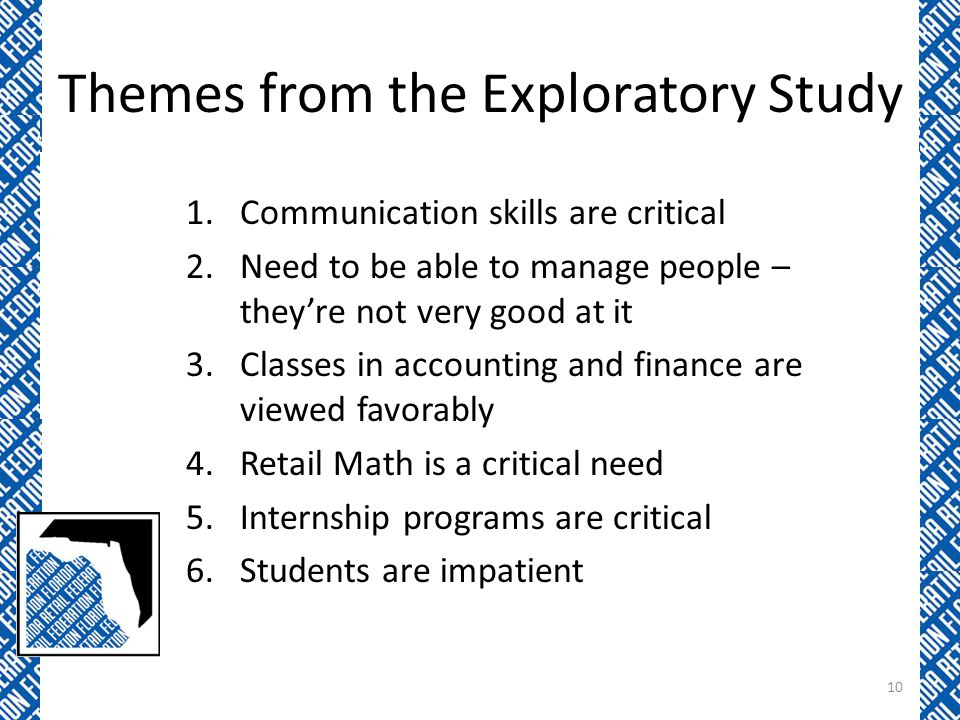 Themes from the Exploratory Study
