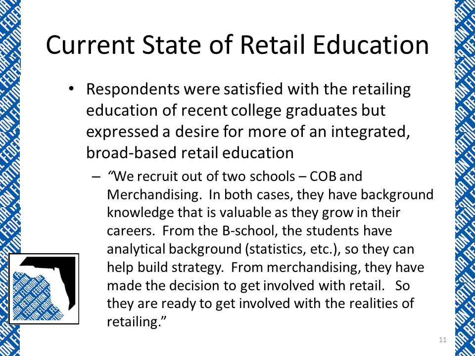 Current State of Retail Education