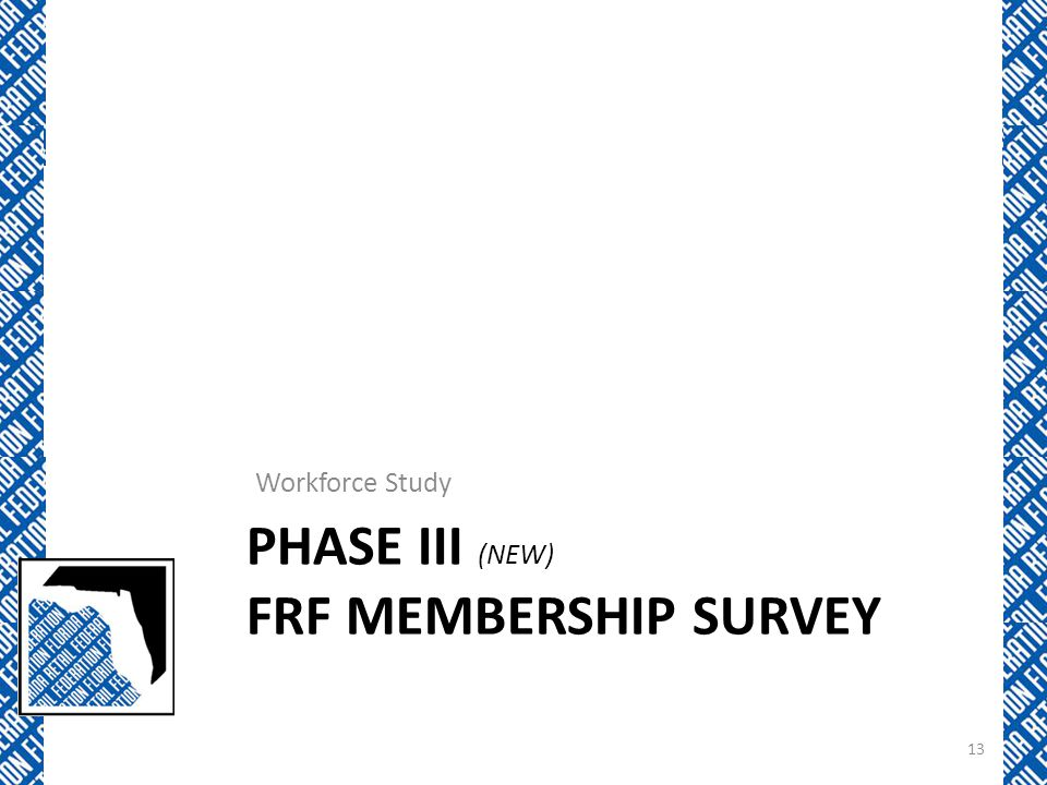 Phase iii (NEW) FRF Membership Survey