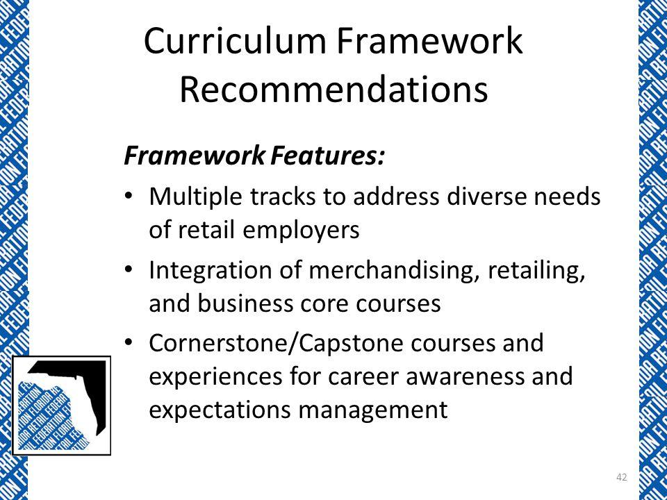 Curriculum Framework Recommendations