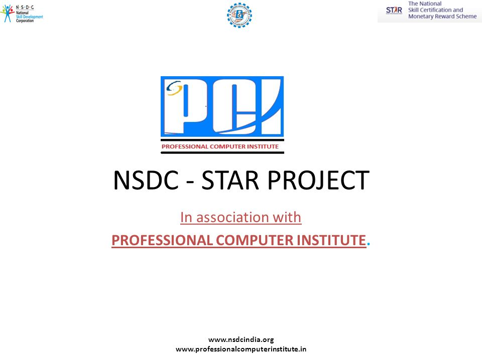 NSDC - STAR PROJECT In association with