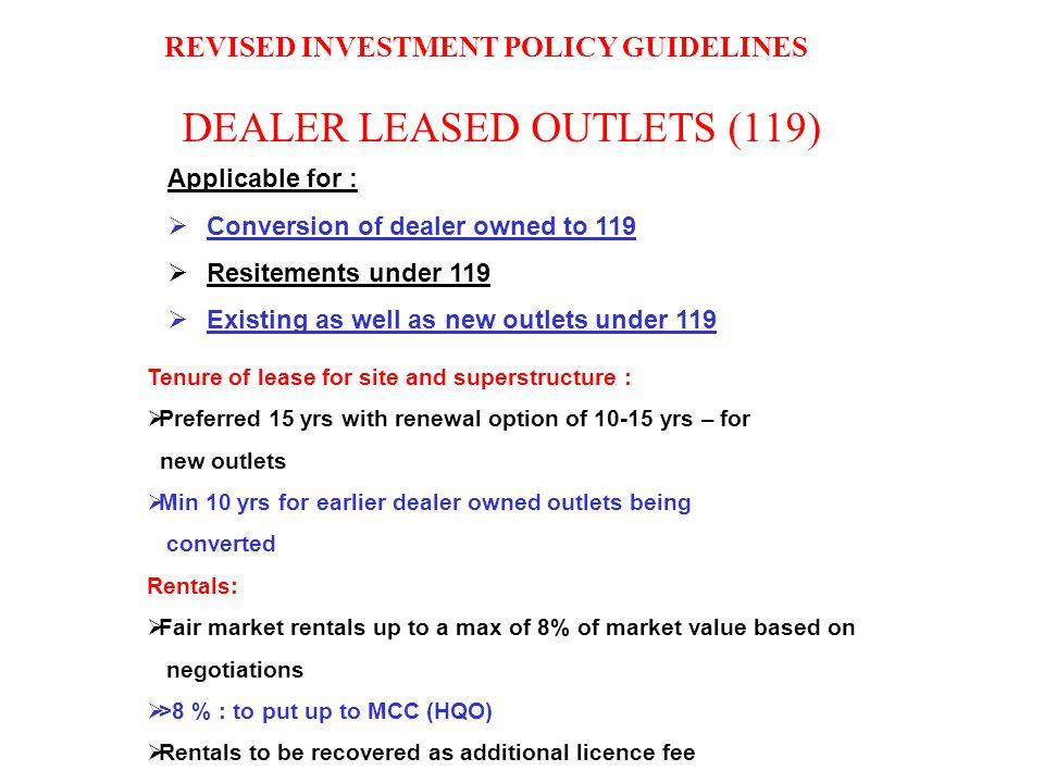 DEALER LEASED OUTLETS (119)