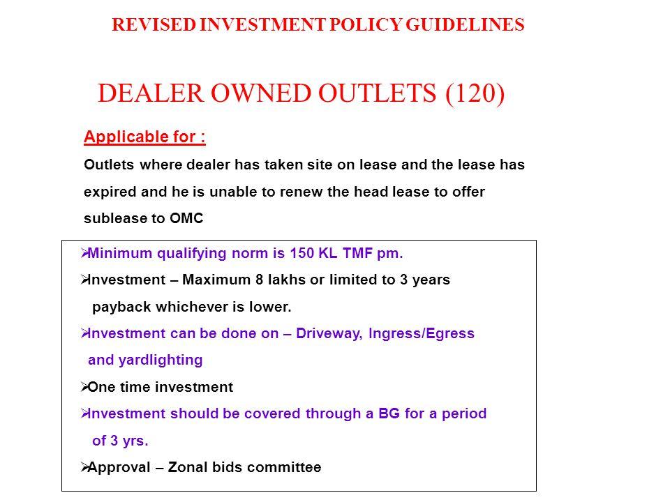 DEALER OWNED OUTLETS (120)