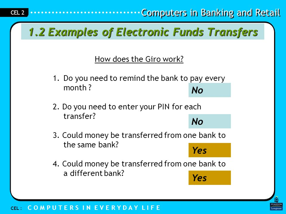 1.2 Examples of Electronic Funds Transfers