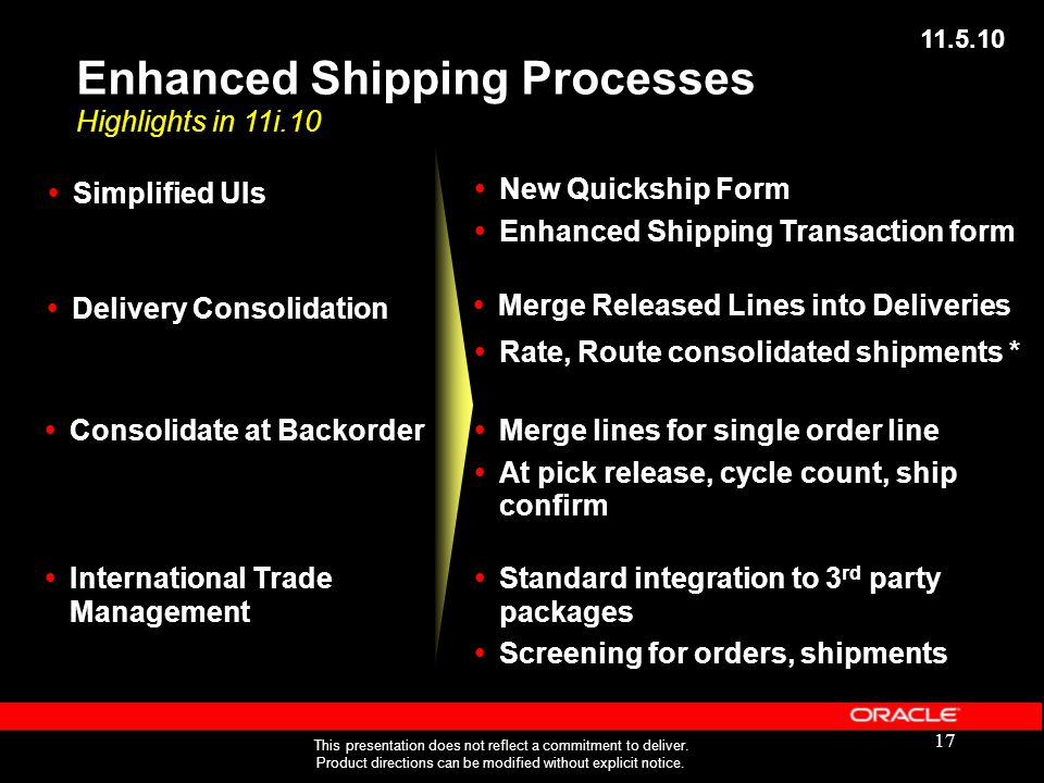 Enhanced Shipping Processes