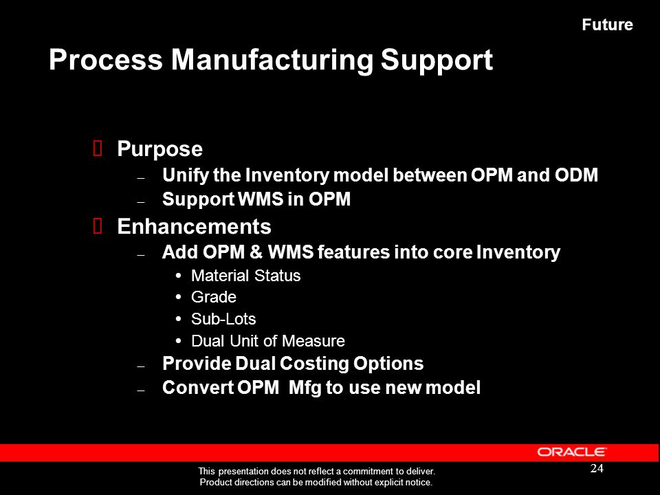 Process Manufacturing Support