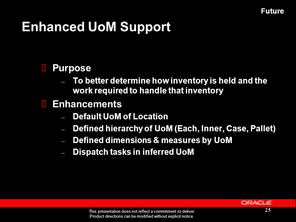 Enhanced UoM Support Purpose Enhancements