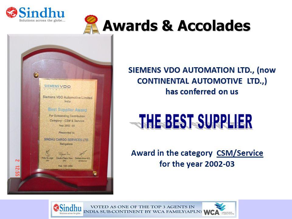 SIEMENS VDO AUTOMATION LTD., (now CONTINENTAL AUTOMOTIVE LTD.,)