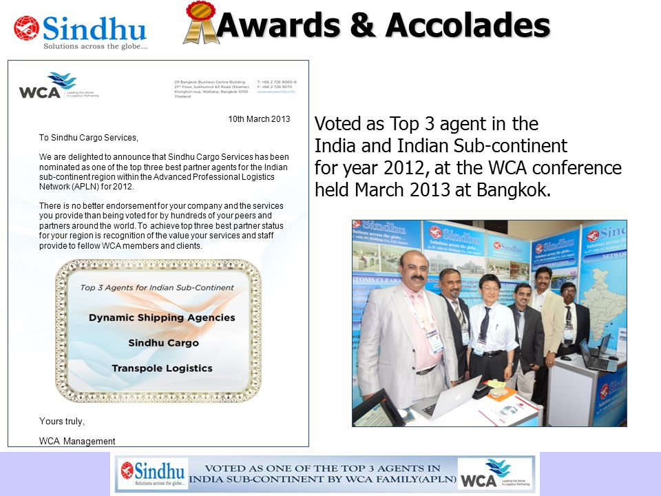 Awards & Accolades Voted as Top 3 agent in the