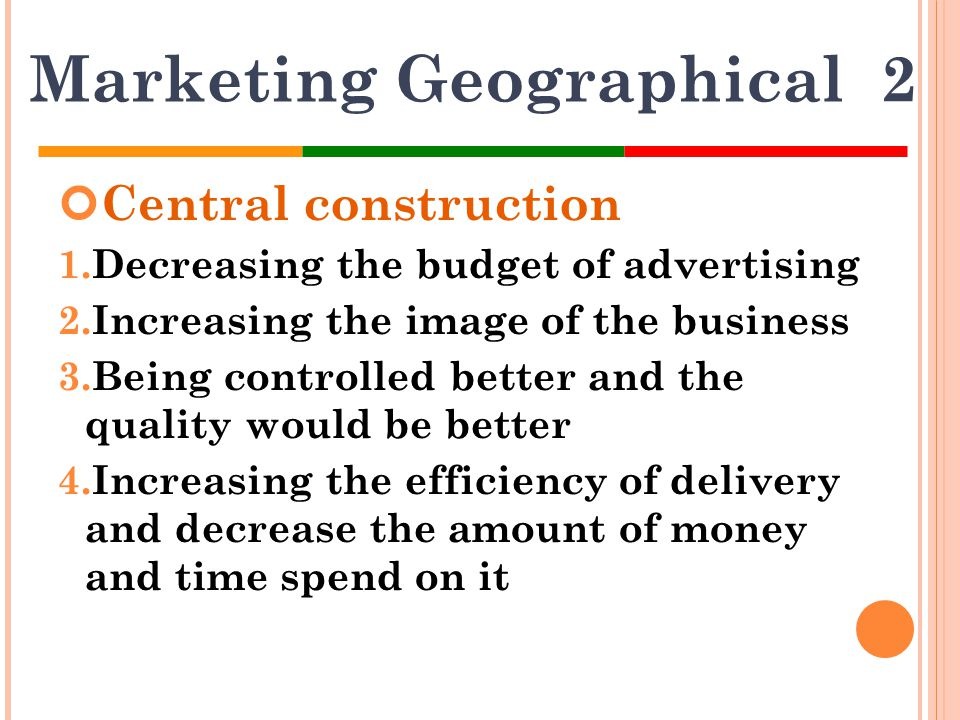 Marketing Geographical 2