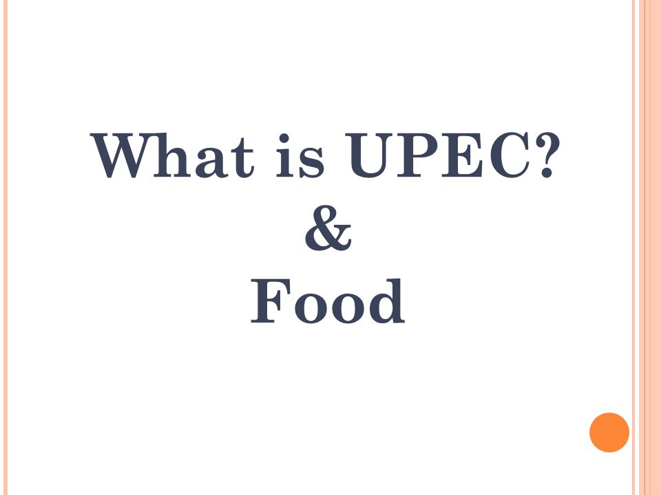 What is UPEC & Food