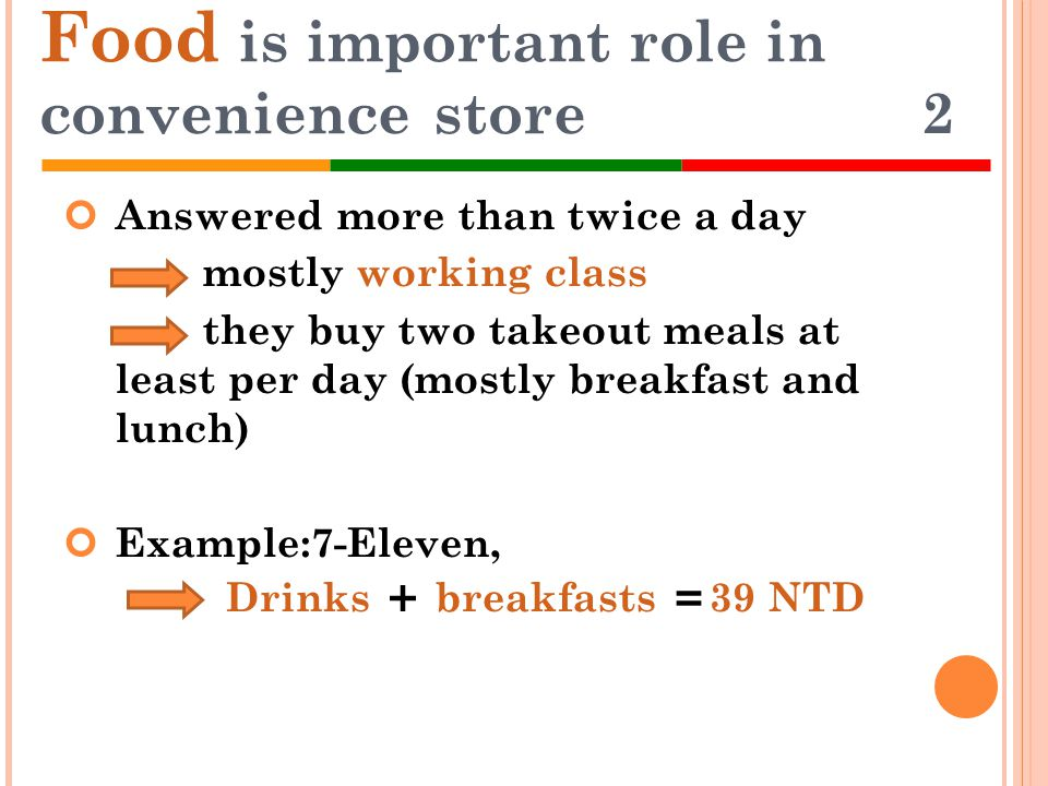 Food is important role in convenience store 2