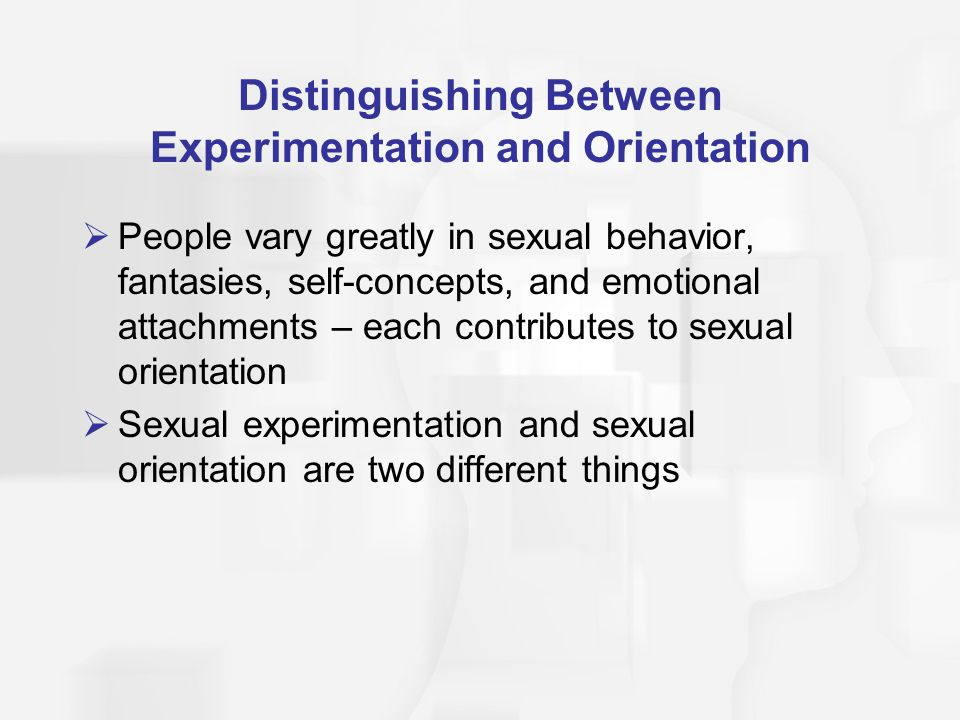 Distinguishing Between Experimentation and Orientation