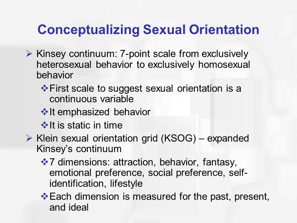 Conceptualizing Sexual Orientation