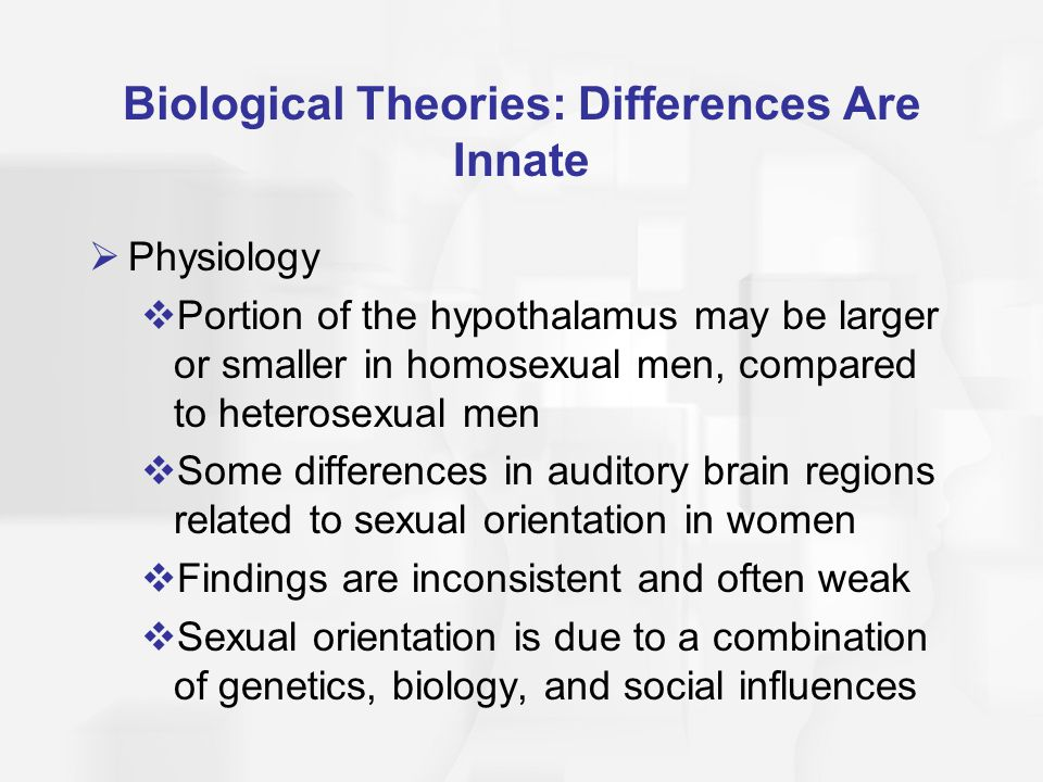 Biological Theories: Differences Are Innate
