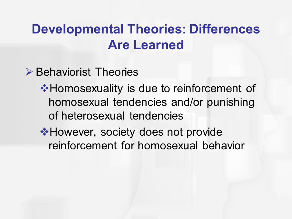 Developmental Theories: Differences Are Learned
