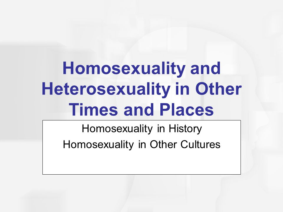 Homosexuality and Heterosexuality in Other Times and Places
