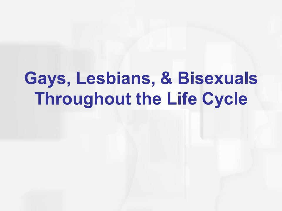 Gays, Lesbians, & Bisexuals Throughout the Life Cycle