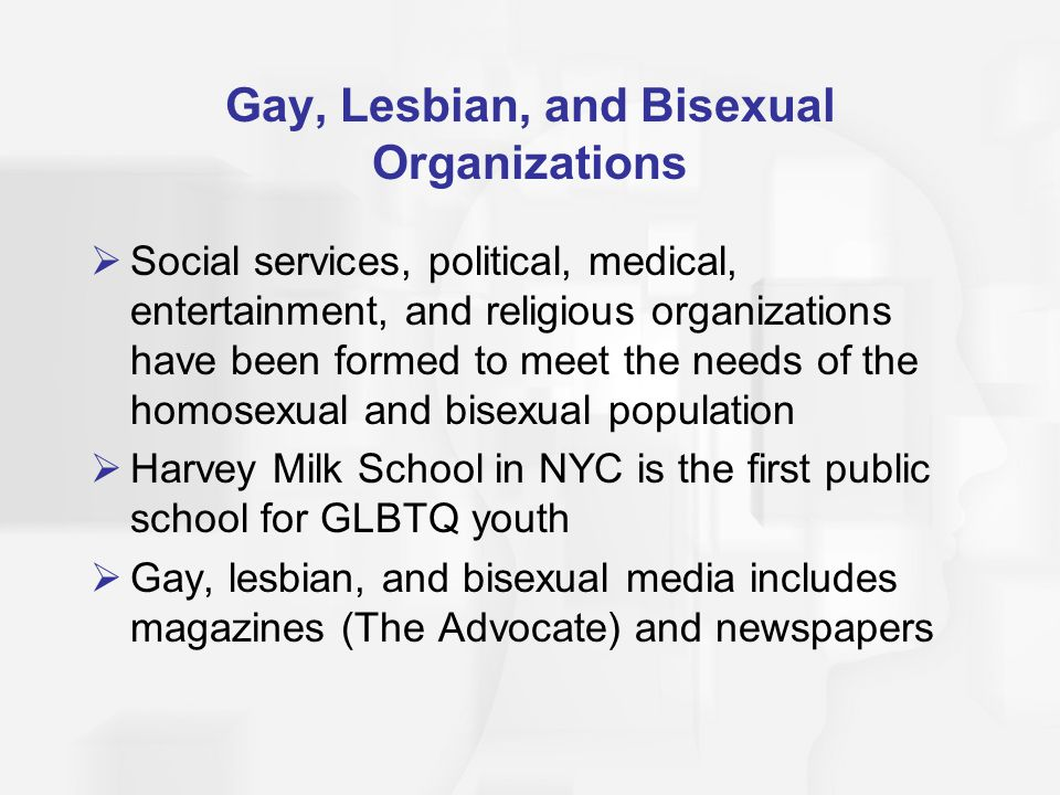 Gay, Lesbian, and Bisexual Organizations