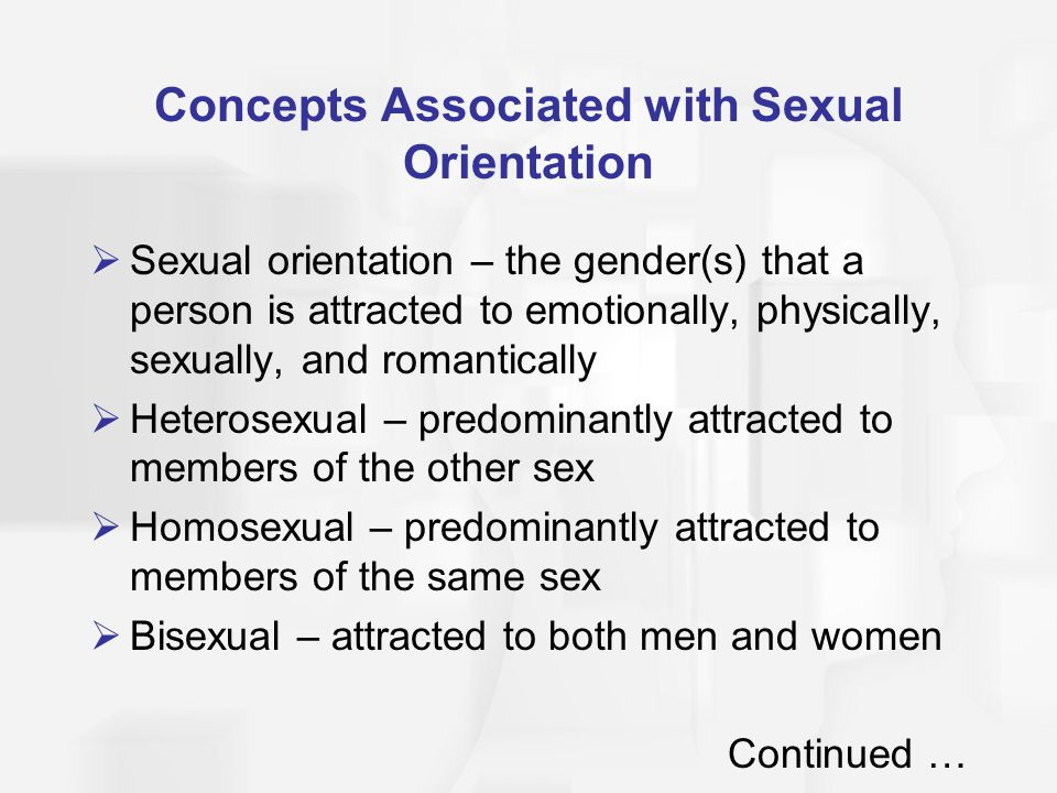 Concepts Associated with Sexual Orientation